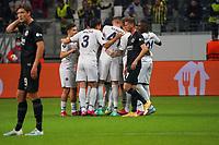 celebrate the goal, Torjubel zum 0:1 Mesut Özil (Fenerbahce Istanbul) - Frankfurt 16.09.2021: Eintracht Frankfurt vs. Fenerbahce Istanbul, Deutsche Bank Park, 1. Spieltag UEFA Europa League