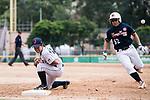 #27 Mitsuura Sakura of Japan (L) in action during the BFA Women's Baseball Asian Cup match between Japan and Hong Kong at Sai Tso Wan Recreation Ground on September 5, 2017 in Hong Kong. Photo by Marcio Rodrigo Machado / Power Sport Images