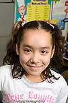 Education Elementary school Grade 2 portrait of girl closeup