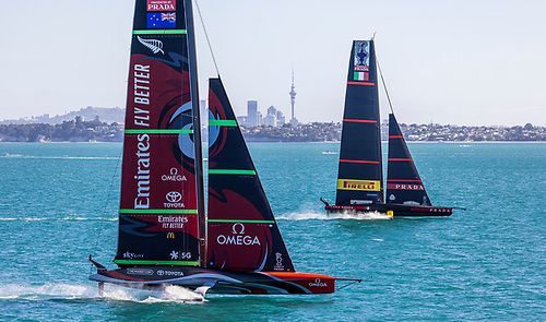After almost four years of planning the start of the 36th America's Cup is just days away for Emirates Team New Zealand and Luna Rossa Prada Pirelli. And while Auckland remains in lockdown, both teams have been able to continue testing and training