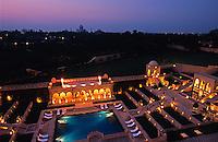 Indien, Agra (Uttar Pradesh), Hotel Amarvilas Blick auf Taj Mahal Unesco-Weltkulturerbe