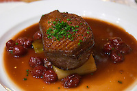 grilled duck's breast with cherry sauce colmar alsace france