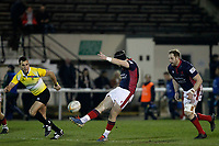 Harry Sheppard of London Scottish in action during the Greene King IPA Championship match between London Scottish Football Club and Nottingham Rugby at Richmond Athletic Ground, Richmond, United Kingdom on 7 February 2020. Photo by Carlton Myrie.
