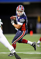 3 December 2009: Buffalo Bills' tight end Jonathan Stupar gains yardage against the New York Jets at the Rogers Centre in Toronto, Ontario, Canada. The Bills fell to the Jets 19-13. Mandatory Credit: Ed Wolfstein Photo