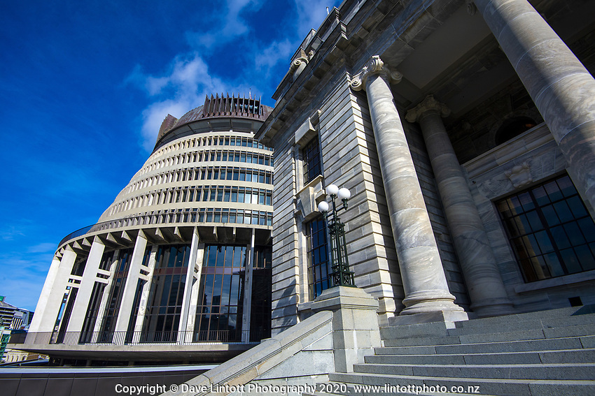 NZ Parliament Buildings in Wellington, New Zealand on Thursday, 4 July 2019. Photo: Dave Lintott / lintottphoto.co.nz