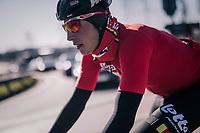 Jens Keukeleire (BEL/Lotto-Soudal) in new colours after many seasons serving in an australian team<br /> <br /> 70th Kuurne-Brussel-Kuurne 2018<br /> Kuurne › Kuurne: 200km (BELGIUM)