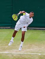 England, London, Juli 06, 2015, Tennis, Wimbledon, Nick Kirgios (AUS) serves<br /> Photo: Tennisimages/Henk Koster