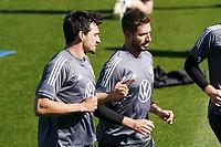 Mats Hummels (Deutschland Germany) und Kevin Trapp (Deutschland Germany) - Seefeld 28.05.2021: Trainingslager der Deutschen Nationalmannschaft zur EM-Vorbereitung