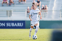 CARY, NC - SEPTEMBER 12: Natalia Kuikka #14 of the Portland Thorns dribbles the ball during a game between Portland Thorns FC and North Carolina Courage at Sahlen's Stadium at WakeMed Soccer Park on September 12, 2021 in Cary, North Carolina.