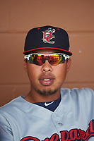 Brevard County Manatees pitcher Kender Villegas (34) before a game against the Lakeland Flying Tigers on April 20, 2016 at Henley Field in Lakeland, Florida.  Lakeland defeated Brevard County 5-2.  (Mike Janes/Four Seam Images)