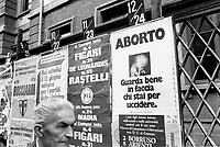 - electoral campaign against the law on the abortion (Milan, 1975)....- campagna elettorale contro la legge sull'aborto (Milano, 1975)