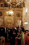 Israel, Jerusalem Old City, Easter, Syrian Orthodox Maundy Thursday at St. Mark's Church