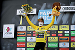 Slovenian Champion Primoz Roglic (SLO) Team Jumbo-Visma wins Stage 4 and is the new race leader Yellow Jersey of Paris-Nice 2021, running 187.5km from Chalon-sur-Saone to Chiroubles, France. 10th March 2021.<br /> Picture: ASO/Fabien Boukla | Cyclefile<br /> <br /> All photos usage must carry mandatory copyright credit (© Cyclefile | ASO/Fabien Boukla)