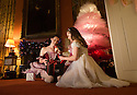 04/11/16<br /> <br /> Commission Mcc0073519 Assigned<br /> <br /> Alice Rathbone (23) and Daisy Edwards (19) sat by a tutu Christmas tree with a model of the Nutcracker Prince.<br /> <br /> Ballerinas pose for photographs in the Painted Hall at Chatsworth House to mark the start of the stately home's Christmas themed  'The Nutcracker'. Join Clara's adventures as she is swept away by her Nutcracker Prince until Jan 3 2017.<br /> <br /> All Rights Reserved F Stop Press Ltd. (0)1773 550665   www.fstoppress.com