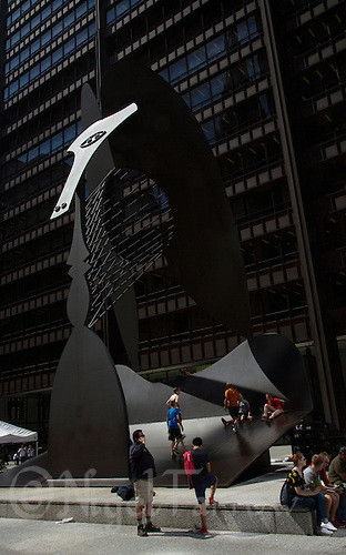 26 JUN 2014 - CHICAGO, USA - The Chicago Picasso, also referred to as The Picasso or Untitled, which stands in Daley Plaza, Chicago in the USA (PHOTO COPYRIGHT © 2014 NIGEL FARROW, ALL RIGHTS RESERVED)