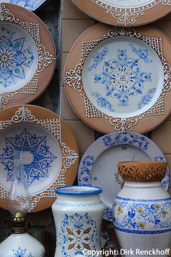 Keramik in Santo Stefano di Camastra, Sizilien, Italien