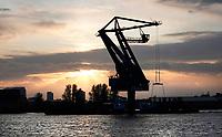 Nederland - Amsterdam -  November 2019. Haven van Amsterdam. Noordzeekanaal. Mobiele kraan van Maja Stuwadoors. Foto Berlinda van Dam / Hollandse Hoogte