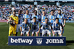 CD Leganes's team photo during La Liga match, Round 25 between CD Leganes and Valencia CF at Butarque Stadium in Leganes, Spain. February 24, 2019. (ALTERPHOTOS/A. Perez Meca)