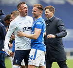 15.05.2021 Rangers v Aberdeen: Allan McGregor, Greg Stewart and Steven Gerrard