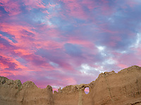 Window rock. Badlands National Park, South Dakota.