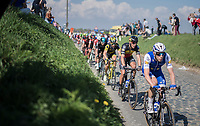Philippe Gilbert (BEL/Quick Step floors) escorted through the Holleweg by teammate Julien Vermote (BEL/QuickStep Floors)<br /> <br /> 101th Ronde Van Vlaanderen 2017 (1.UWT)<br /> 1day race: Antwerp › Oudenaarde - BEL (260km)