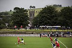 Vale of Leven 3 Ashfield 4, 03/09/2016. Millburn Park, West of Scotland League Central District Second Division. First-half action at Millburn Park, Alexandria, as Vale of Leven (in blue) hosted Ashfield in a West of Scotland League Central District Second Division Junior fixture. Vale of Leven were one of the founder members of the Scottish League in 1890 and remained part of the SFA and League structure until 1929 when the original club folded, only to be resurrected as a member of the Scottish Junior Football Association after World War II. They lost the match to Ashfield by 4-3, having led 3-1 with 10 minutes remaining. Photo by Colin McPherson.