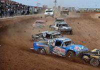 Mar. 19, 2011; Chandler, AZ, USA;  LOORRS pro two driver Robby Woods (99) races in traffic during round one at Firebird International Raceway. Mandatory Credit: Mark J. Rebilas-