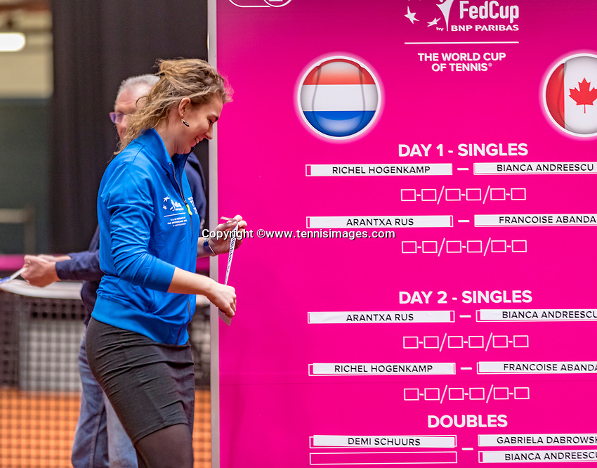 Den Bosch, The Netherlands, Februari 8, 2019,  Maaspoort , FedCup  Netherlands - Canada, Draw<br /> Photo: Tennisimages/Henk Koster