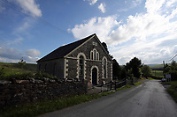 Capel Ybedyddwys dated 1873, one of the chapels in the village of Staylittle (Penffordd-Las in welsh)