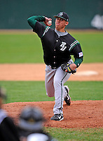 2 May 2008: Binghamton University Bearcats' pitcher Khalid Afify, a Senior from Binghamton, NY, on the mound against the University of Vermont Catamounts at Historic Centennial Field in Burlington, Vermont. The Catamounts defeated the Bearcats 6-2 in the first game of their weekend series...Mandatory Photo Credit: Ed Wolfstein Photo