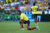 Actio photo during the match Brasil vs Ecuador, at Rose Bowl Stadium Copa America Centenario 2016. ---Foto  de accion durante el partido Brasil vs Ecuador, En el Estadio Rose Bowl, Partido Correspondiante al Grupo -B-  de la Copa America Centenario USA 2016, en la foto: Antonio Valencia<br /> <br /> --- 04/06/2016/MEXSPORT/ German Alegria.