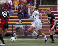 Boston College forward/midfielder Gibby Wagner (10) dribbles down the wing. Boston College defeated North Carolina State,1-0, on Newton Campus Field, on October 23, 2011.