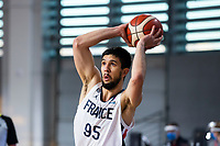 22nd February 2021, Podgorica, Montenegro; Eurobasket International Basketball qualification for the 2022 European Championships, England versus France;  Axel Bouteille of France