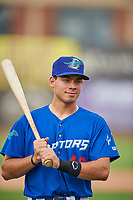 Jimmy Titus (40) of the Ogden Raptors before the game against the Grand Junction Rockies at Lindquist Field on June 17, 2019 in Ogden, Utah. The Rockies defeated the Raptors 9-0. (Stephen Smith/Four Seam Images)