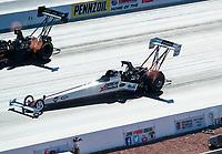 Nov 1, 2020; Las Vegas, Nevada, USA; NHRA top fuel driver Jim Maroney during the NHRA Finals at The Strip at Las Vegas Motor Speedway. Mandatory Credit: Mark J. Rebilas-USA TODAY Sports