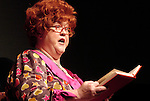 """""""Mrs. P"""" (Kathy Kinney) reads to a group of elementary students during a presentation sponsored by the Central Wisconsin Reading Council at Sentry Theater to promote children's reading. (DOUG WOJCIK)"""