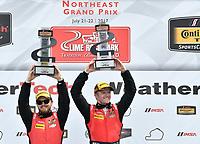 IMSA Continental Tire SportsCar Challenge<br /> Lime Rock Park 120<br /> Lime Rock Park, Lakeville, CT USA<br /> Saturday 22 July 2017 <br /> 57, Chevrolet, Chevrolet Camaro GT4.R, GS, Matt Bell, Robin Liddell<br /> World Copyright: Richard Dole<br /> LAT Images<br /> ref: Digital Image RD_LRP_17_01166