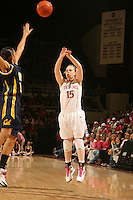 STANFORD, CA - FEBRUARY 14:  Guard Lindy La Rocque #15 of the Stanford Cardinal during Stanford's 58-41 win against the California Golden Bears on February 14, 2009 at Maples Pavilion in Stanford, California.