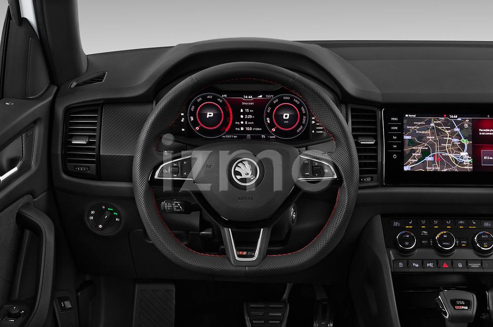 Car pictures of steering wheel view of a 2019 Skoda Kodiaq RS 5 Door SUV Steering Wheel