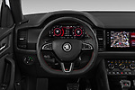 Car pictures of steering wheel view of a 2019 Skoda Kodiaq RS 5 Door SUV Steering Wheel