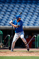 Toronto Blue Jays first baseman Jake Brodt (23) at bat during a Florida Instructional League game against the Philadelphia Phillies on September 24, 2018 at Spectrum Field in Clearwater, Florida.  (Mike Janes/Four Seam Images)