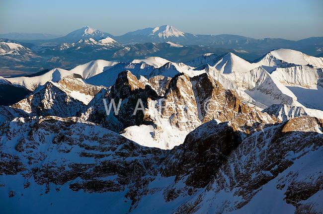 Crestone with Spanish Peaks in background