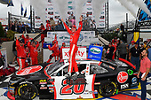 #20: Christopher Bell, Joe Gibbs Racing, Toyota Camry Rheem celebrates in victory lane