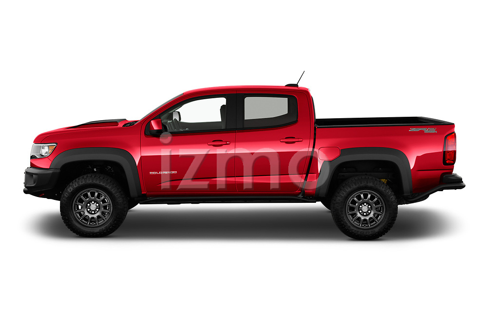 Car Driver side profile view of a 2021 Chevrolet Colorado ZR2 4 Door Pick-up Side View