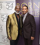"""BeBe Winans and Charles Randolph-Wright backstage after a Song preview performance of the Bebe Winans Broadway Bound Musical """"Born For This"""" at Feinstein's 54 Below on November 5, 2018 in New York City."""