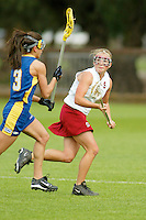 STANFORD, CA - MARCH 26: Sarah Bach of the Stanford Cardinal during Stanford's 9-8 (OT) win over the Hofstra Pride on March 26, 2004 at Maloney Field in Stanford, California.