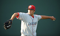 LHP Matthew Way (28) of the Lakewood BlueClaws, Class A affiliate of the Philadelphia Phillies, in a game against the Greenville Drive on May 13, 2010, at Fluor Field at the West End in Greenville, S.C. Photo by: Tom Priddy/Four Seam Images