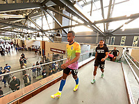 SAN JOSE, CA - AUGUST 17: Jeremy Ebobisse #11 and Marcos Lopez #27 of the San Jose Earthquakes before a game between Minnesota United FC and San Jose Earthquakes at PayPal Park on August 17, 2021 in San Jose, California.