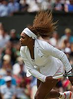 01-07-13, England, London,  AELTC, Wimbledon, Tennis, Wimbledon 2013, Day seven, Serina Williams (USA)<br /> <br /> <br /> <br /> Photo: Henk Koster