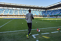 San Jose, CA - Wednesday June 28, 2017: David Bingham prior to a U.S. Open Cup Round of 16 match between the San Jose Earthquakes and the Seattle Sounders FC at Avaya Stadium.
